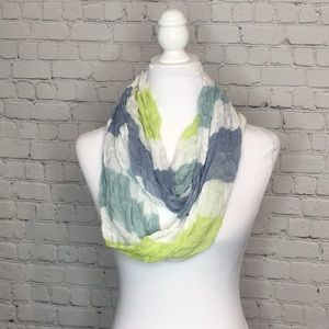 LOFT Sheer Striped Infinity Scarf